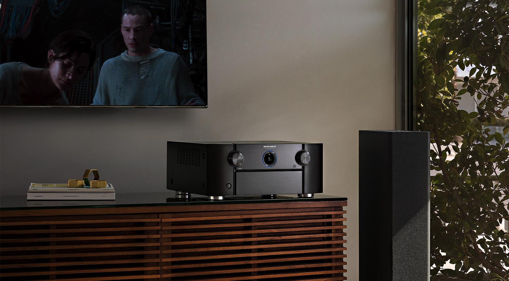 Marantz AV7706 11.2Ch 8K Ultra HD Atmos Network AV Preamplifier Marantz_AV7706_Lifestyle-Movie-Playback-1626w